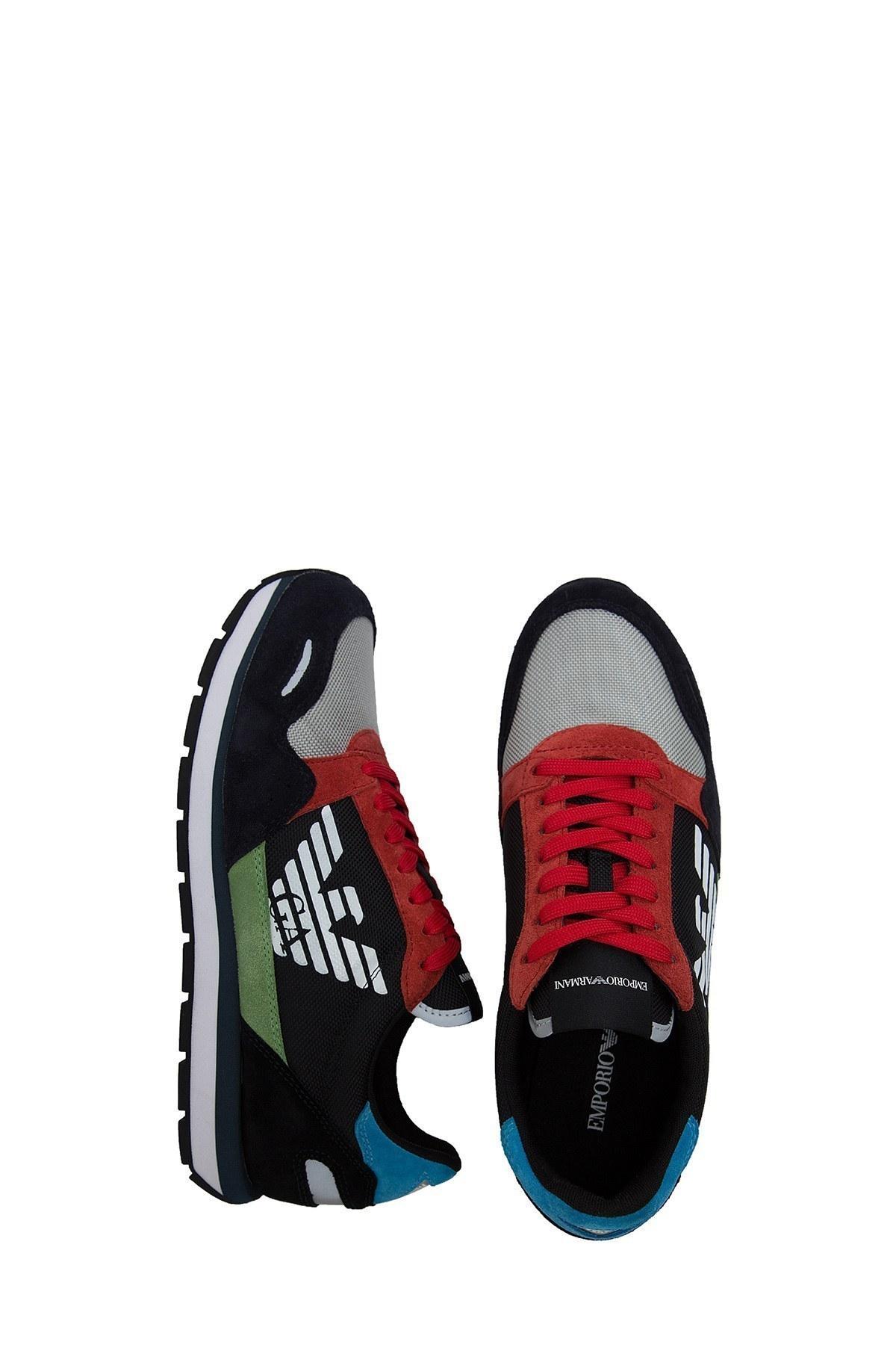 Emporio Armani Erkek Ayakkabı X4X215 XL200 A678 LACİVERT-KIRMIZI