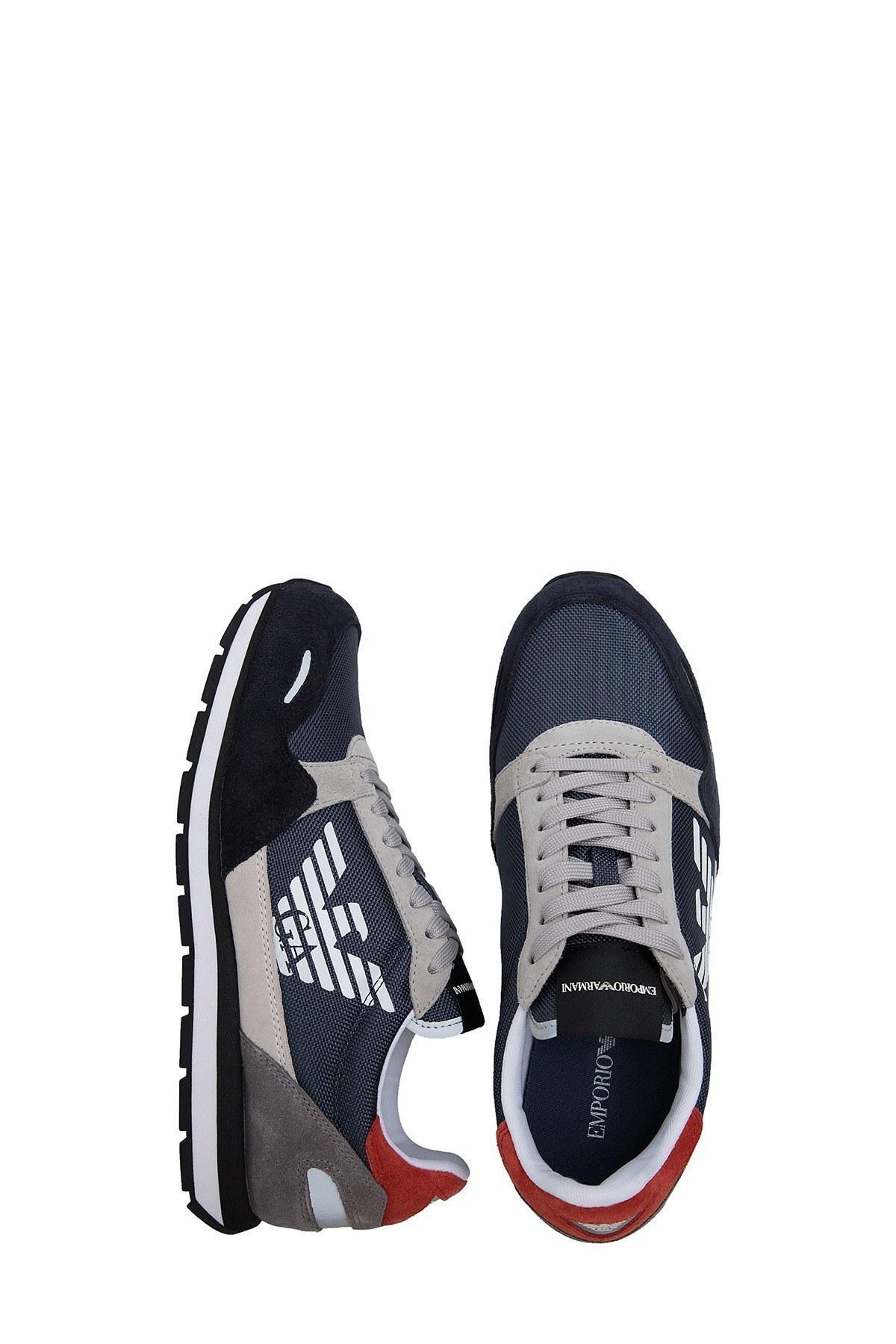 Emporio Armani Erkek Ayakkabı X4X215 XL200 R821 LACİVERT-BEYAZ