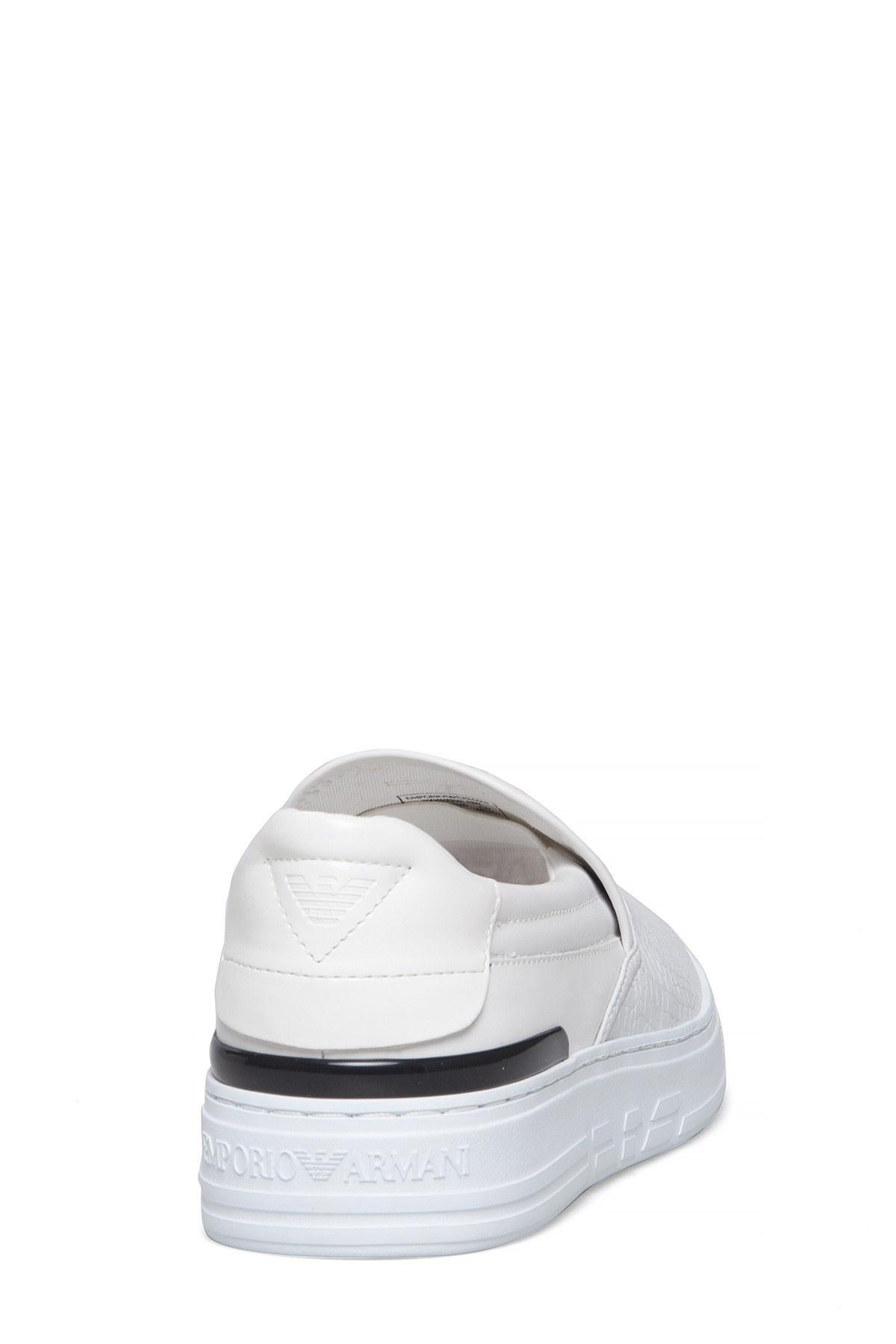 EMPORIO ARMANI Erkek Ayakkabı X4X222 XL190 K222 BEYAZ