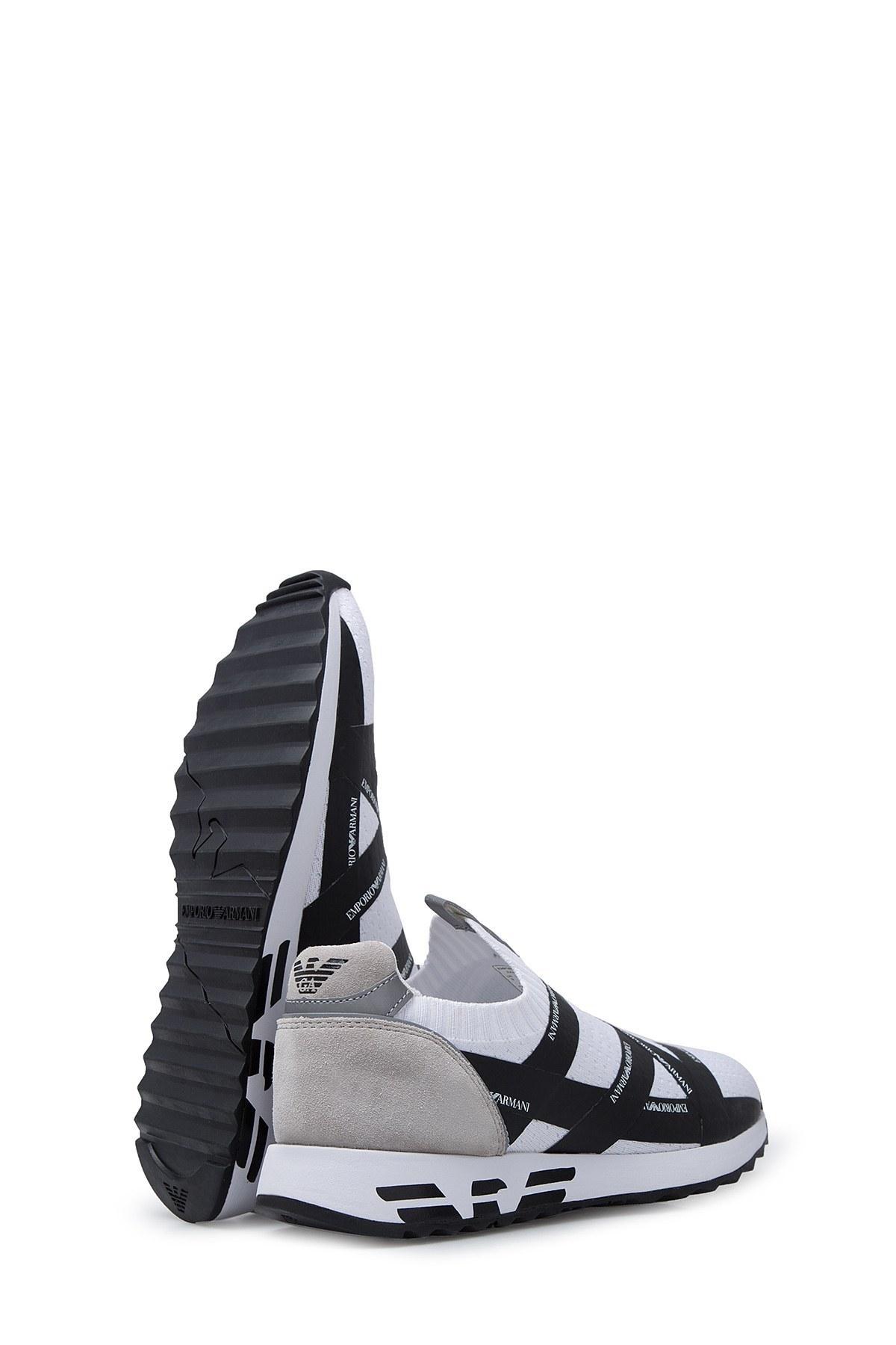 Emporio Armani Erkek Ayakkabı X4X253 XL692 D237 BEYAZ-LACİVERT