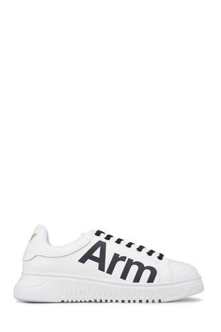 Emporio Armani - Emporio Armani Erkek Ayakkabı X4X264 XL773 D611 BEYAZ
