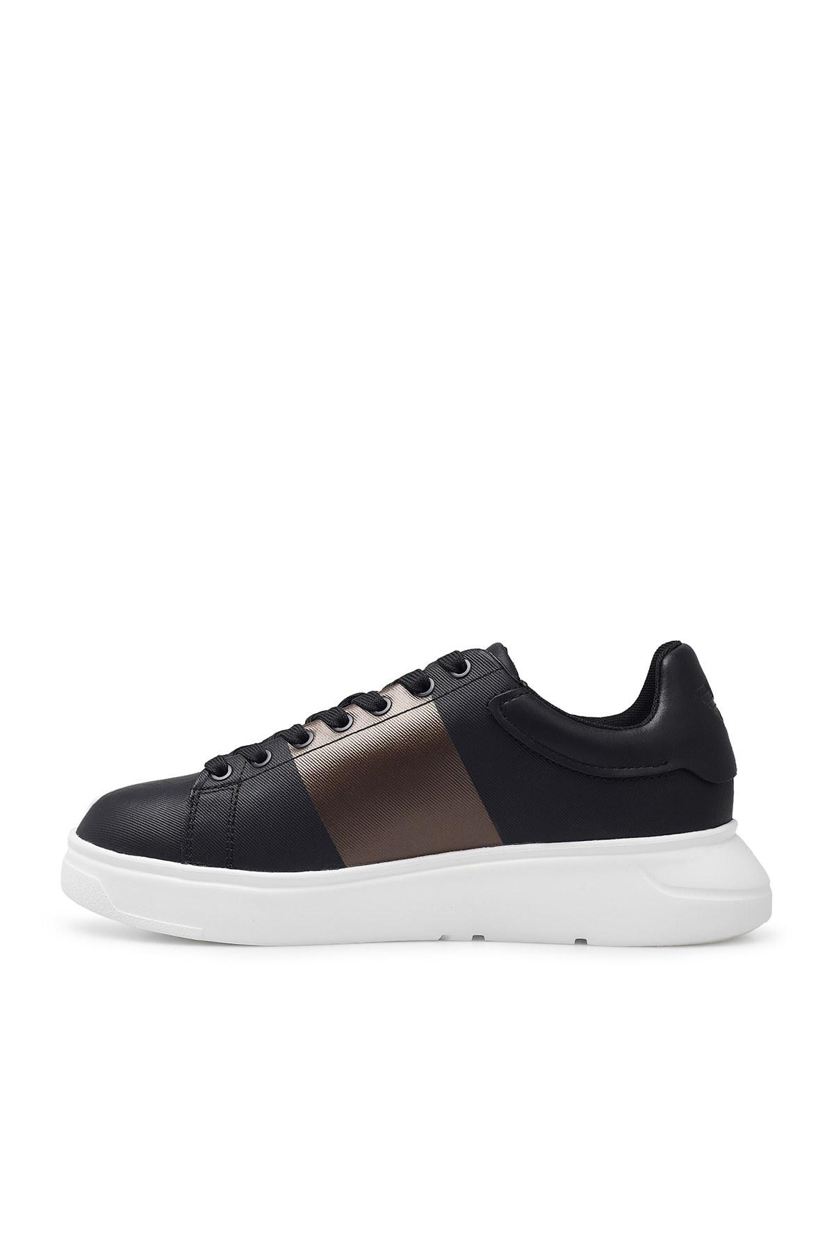 Emporio Armani Erkek Ayakkabı X4X264 XM491 M990 SİYAH-BEYAZ