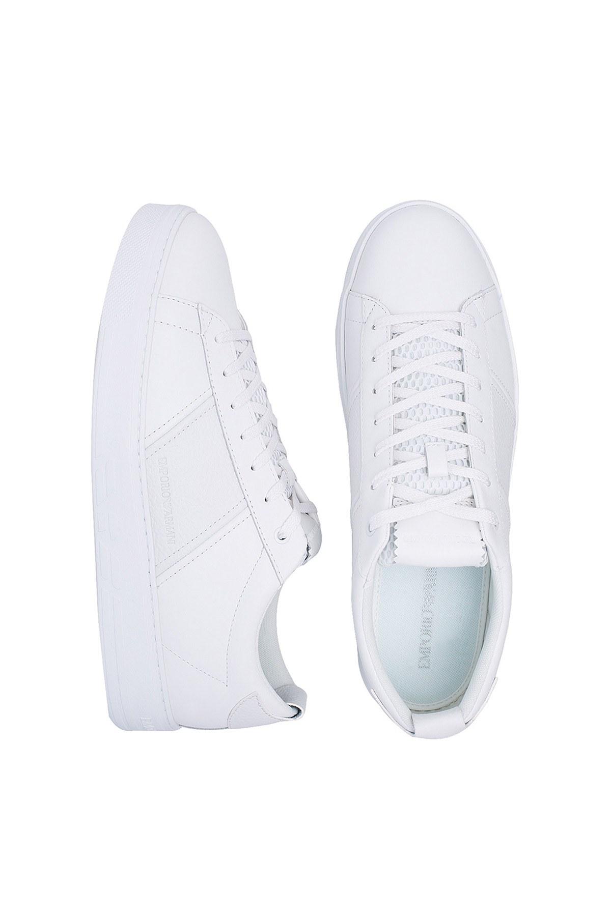 Emporio Armani Erkek Ayakkabı X4X287 XM318 A222 BEYAZ