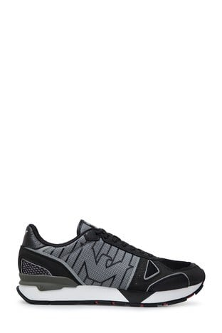 Emporio Armani - Emporio Armani Erkek Ayakkabı X4X289 XM232 B810 SİYAH-GRİ