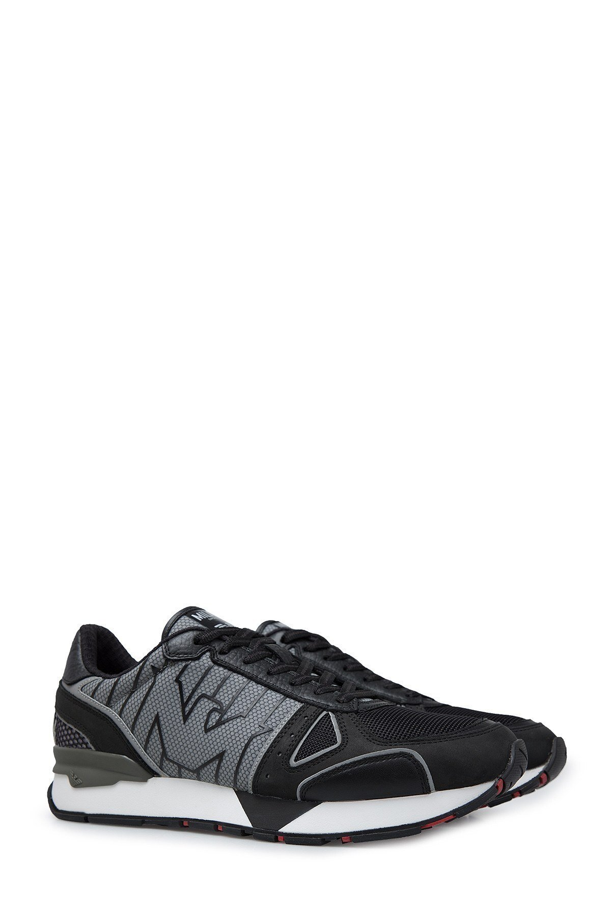Emporio Armani Erkek Ayakkabı X4X289 XM232 B810 SİYAH-GRİ