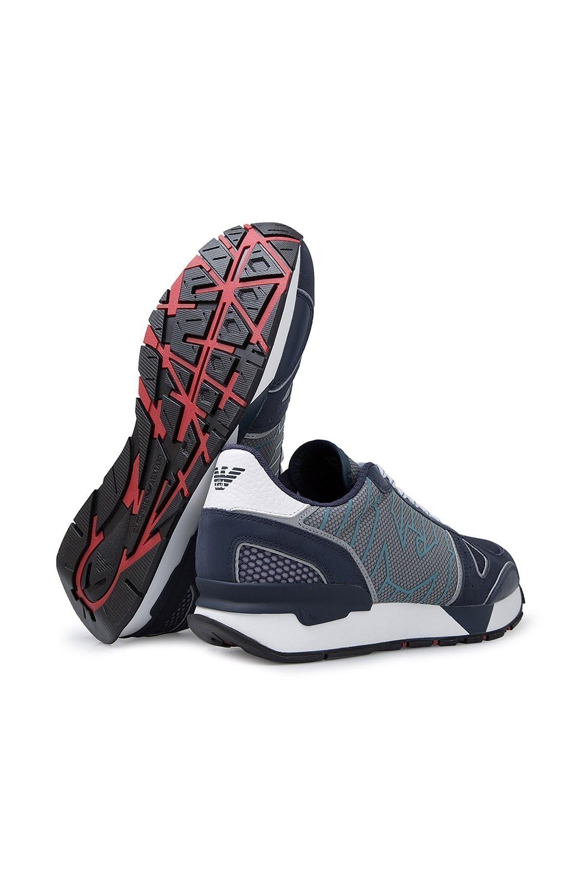 Emporio Armani Erkek Ayakkabı X4X289 XM232 R200 LACİVERT