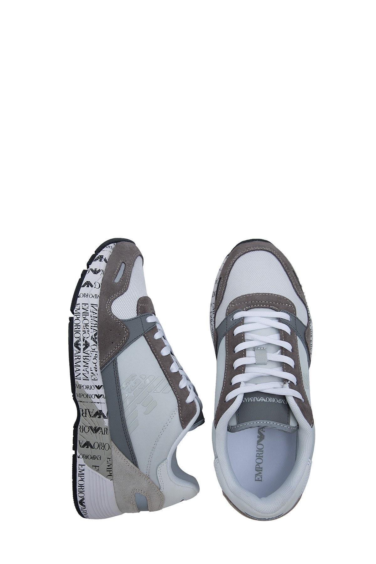 Emporio Armani Erkek Ayakkabı X4X292 XM241 P960 AÇIK GRİ
