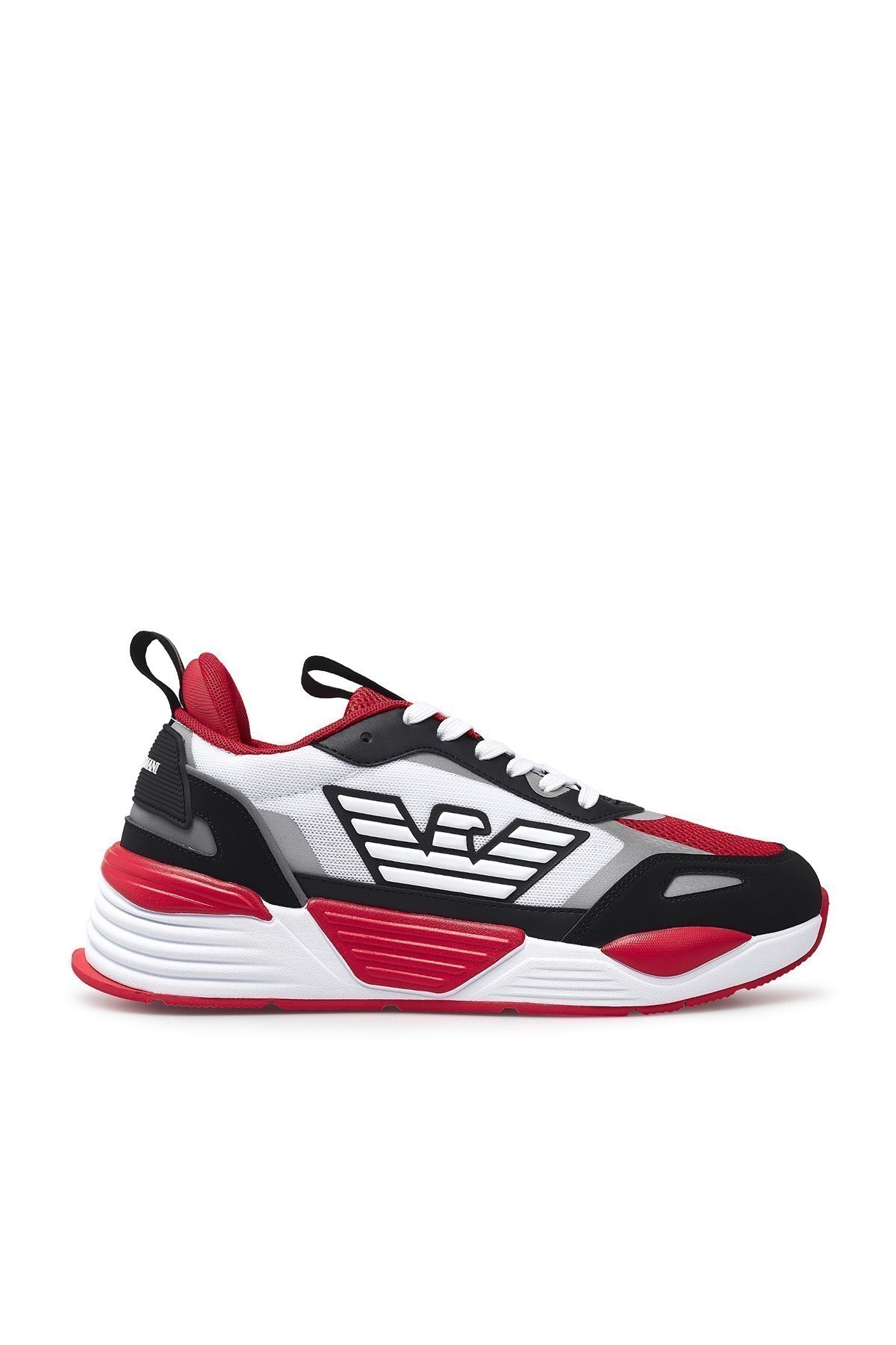 Emporio Armani Erkek Ayakkabı X4X325 XM521 A603 BEYAZ-KIRMIZI