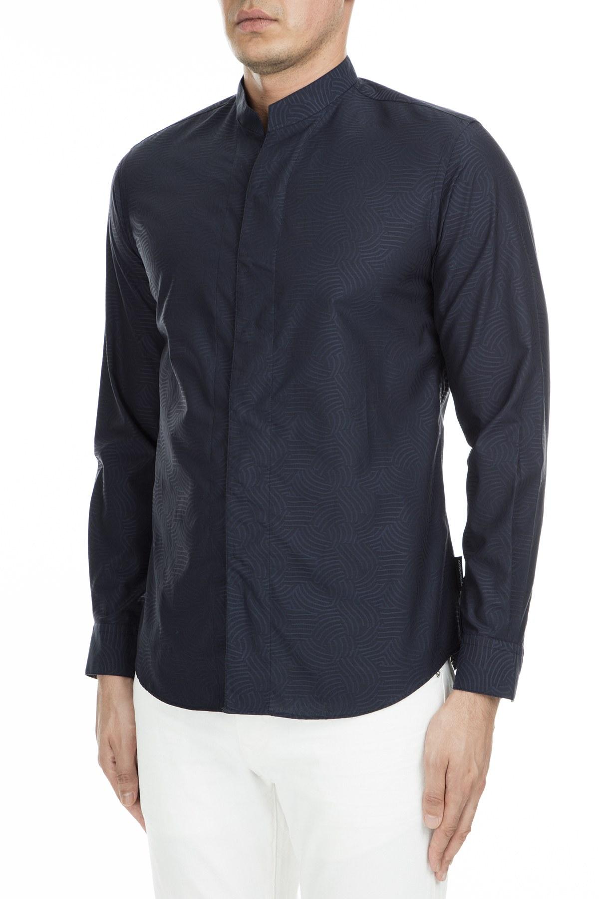 Emporio Armani Erkek Gömlek 21SMQL 212F7 041 SİYAH