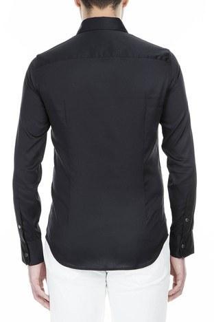 Emporio Armani - Emporio Armani Erkek Gömlek 3G1CL0 1NHSZ 0999 SİYAH (1)