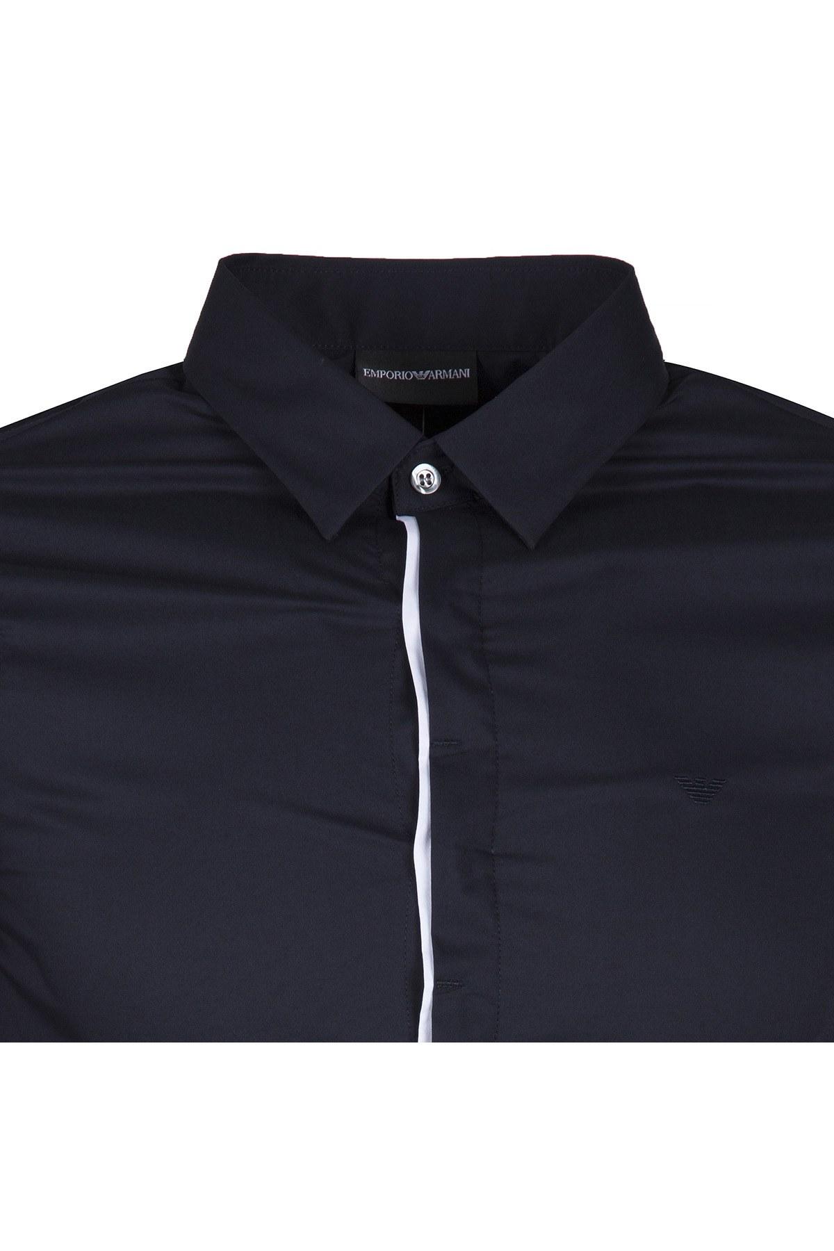 EMPORIO ARMANI Erkek Gömlek 3Z1CL7 1NFUZ LACİVERT