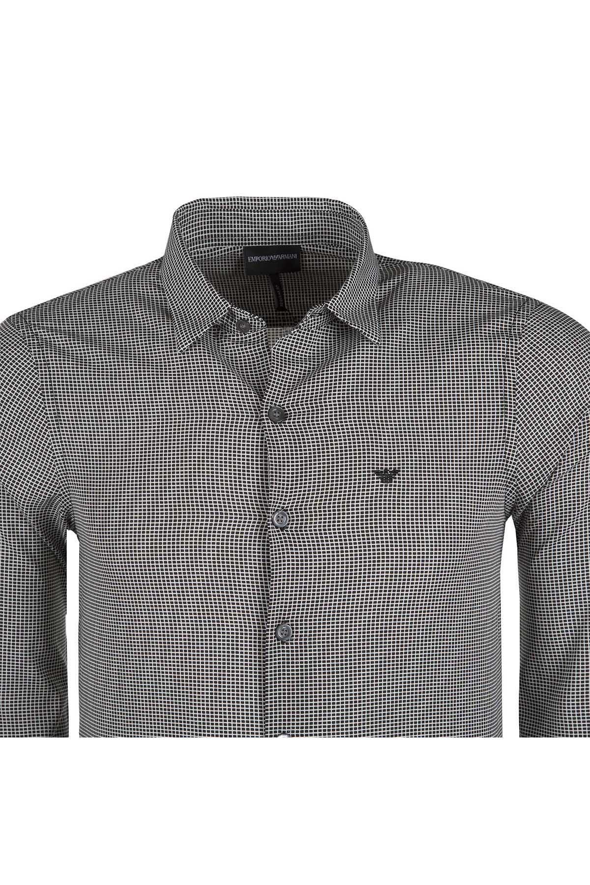 EMPORIO ARMANI Erkek Gömlek 3Z1CM6 1NGHZF 008 GRİ