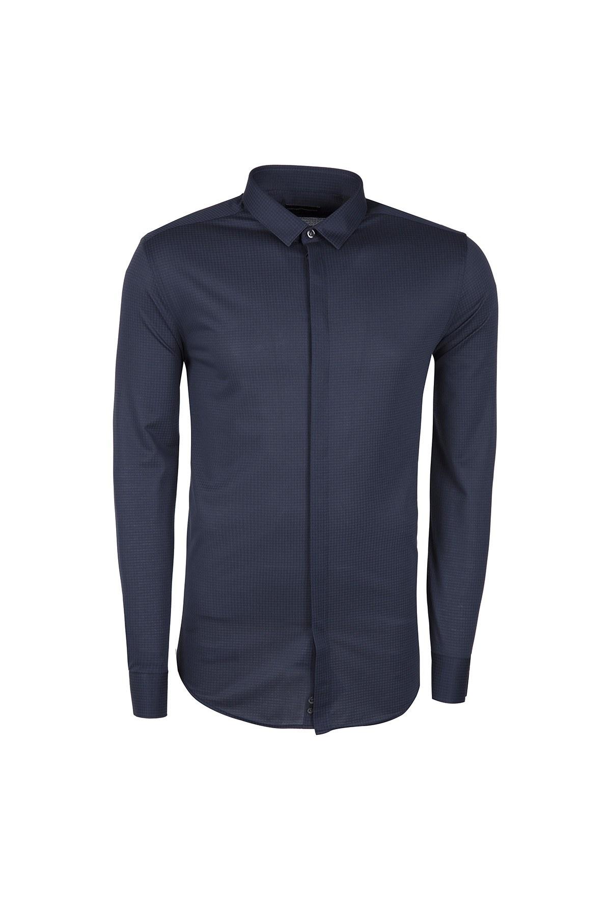 EMPORIO ARMANI Erkek Gömlek W1CC2T W160C LACİVERT