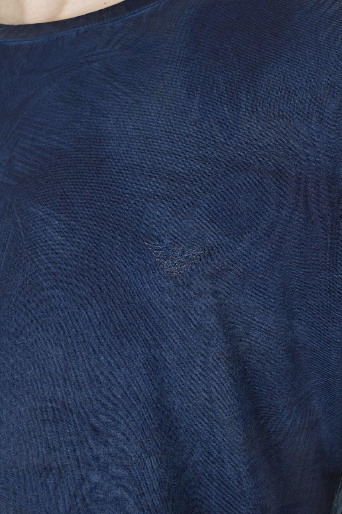 Emporio Armani Erkek T Shirt 211831 0P467 65335 LACİVERT