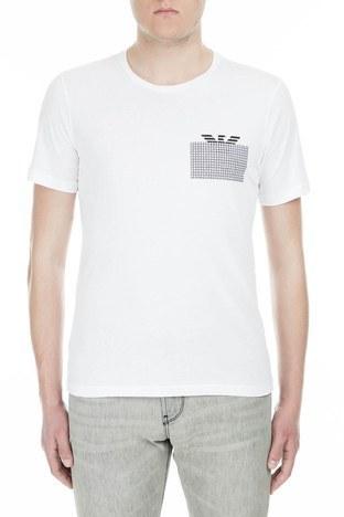 Emporio Armani - Emporio Armani Erkek T Shirt 3G1T6P 1JQ4Z 0100 BEYAZ