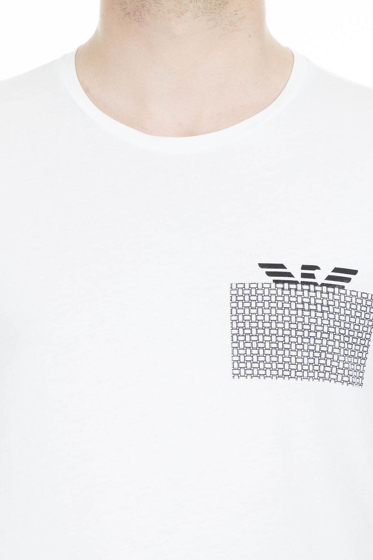 Emporio Armani Erkek T Shirt 3G1T6P 1JQ4Z 0100 BEYAZ