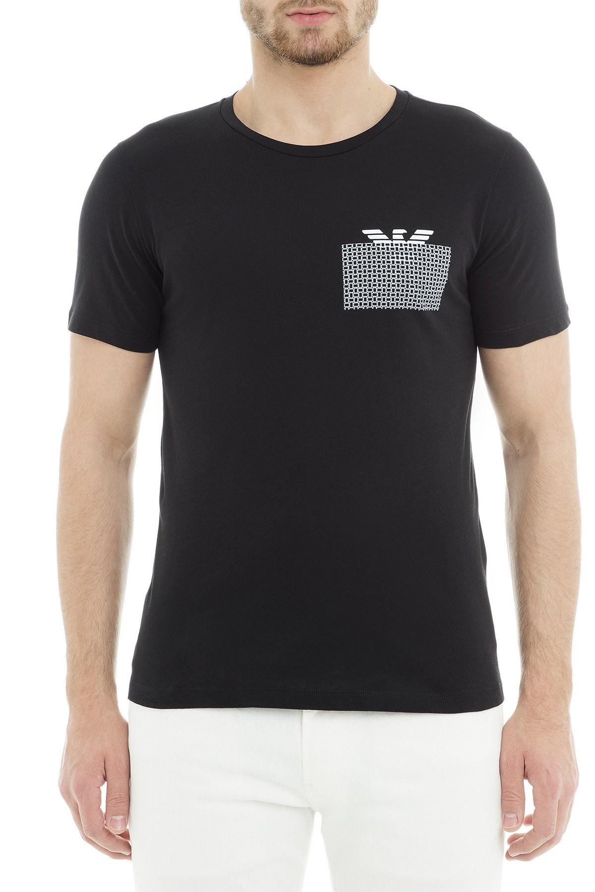 Emporio Armani Erkek T Shirt 3G1T6P 1JQ4Z 0999 SİYAH