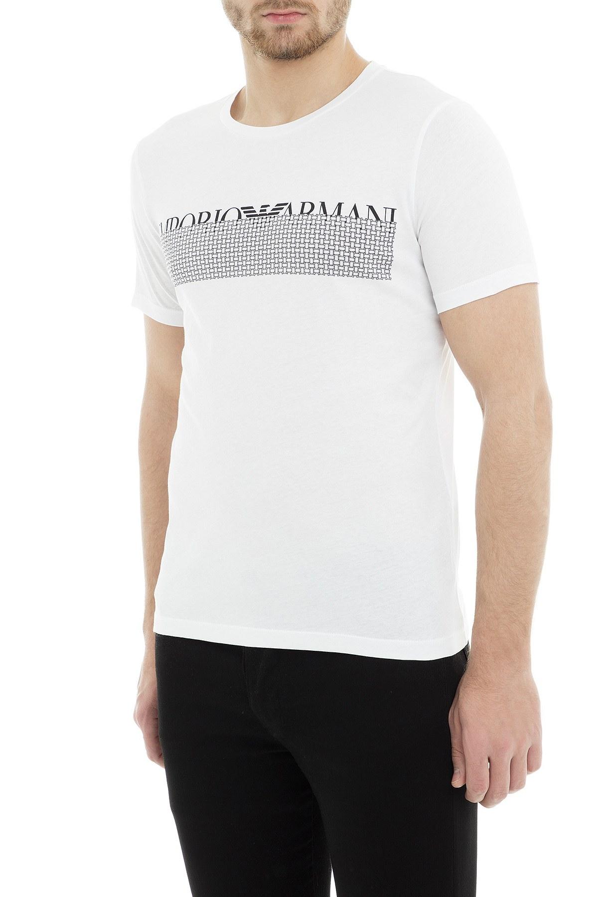 Emporio Armani Erkek T Shirt 3G1T6W 1JQ4Z 0100 BEYAZ