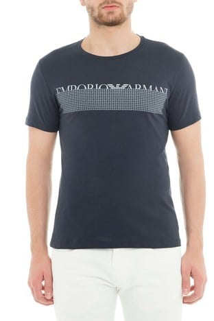 Emporio Armani - Emporio Armani Erkek T Shirt 3G1T6W 1JQ4Z 0922 LACİVERT