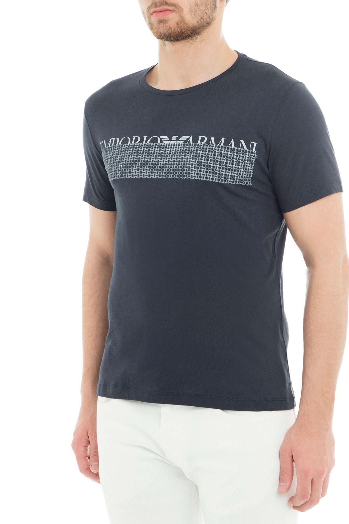 Emporio Armani Erkek T Shirt 3G1T6W 1JQ4Z 0922 LACİVERT