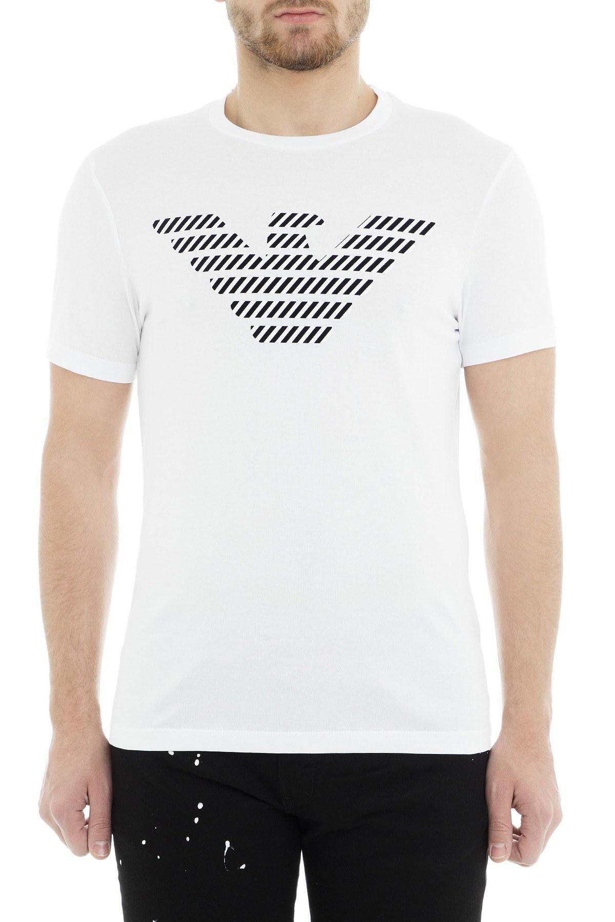 Emporio Armani Erkek T Shirt 3G1T94 1J30Z 0100 BEYAZ