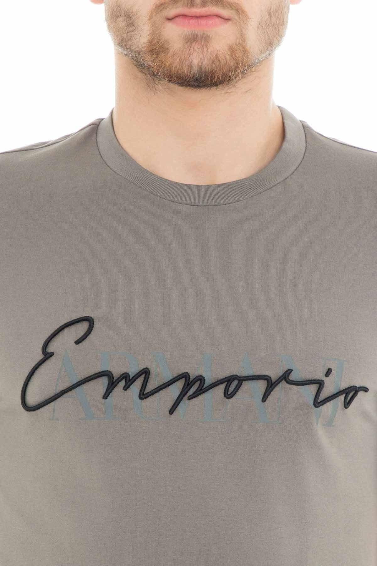 Emporio Armani Erkek T Shirt 3G1TG2 1J30Z 0646 GRİ