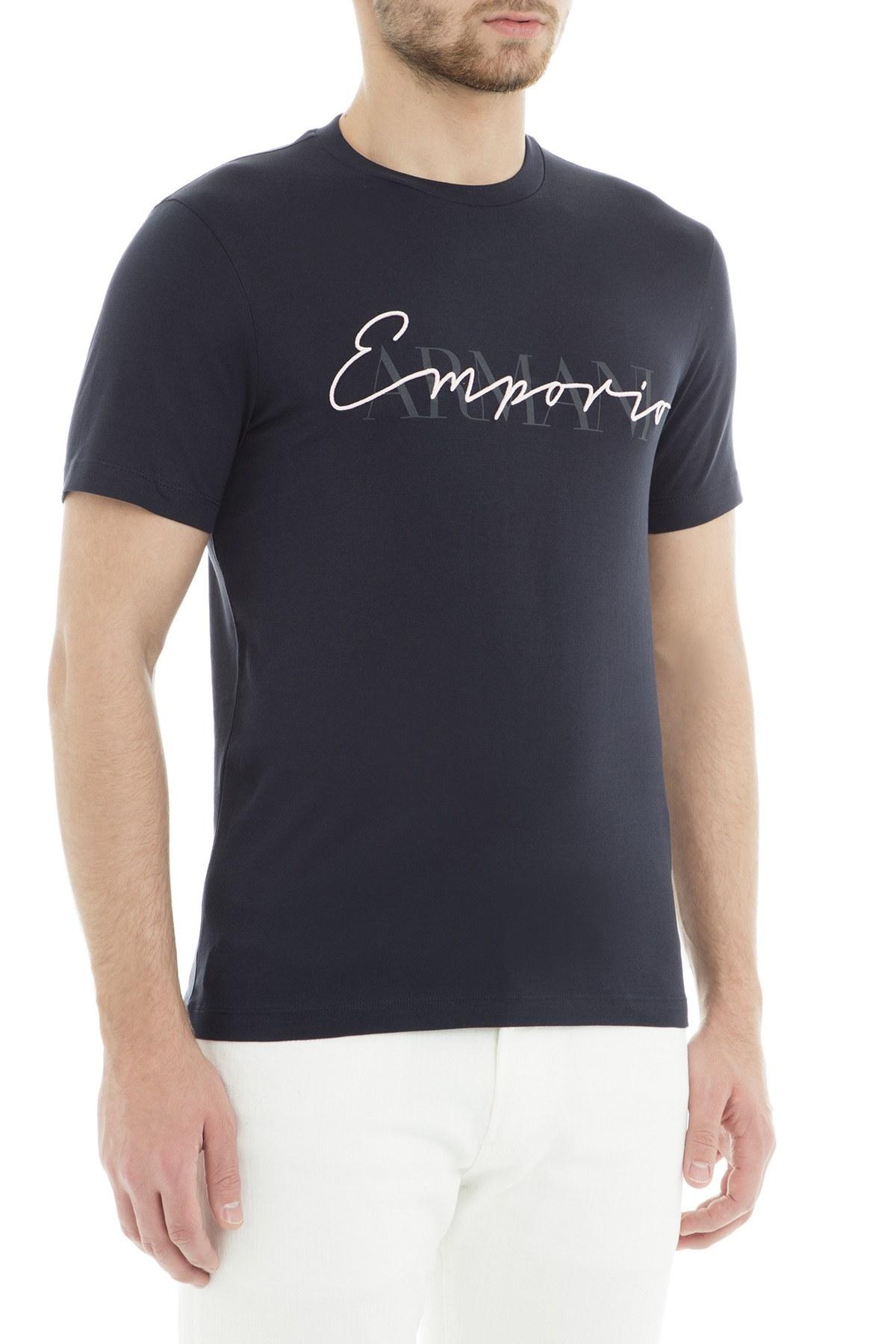 Emporio Armani Erkek T Shirt 3G1TG2 1J30Z 0922 LACİVERT