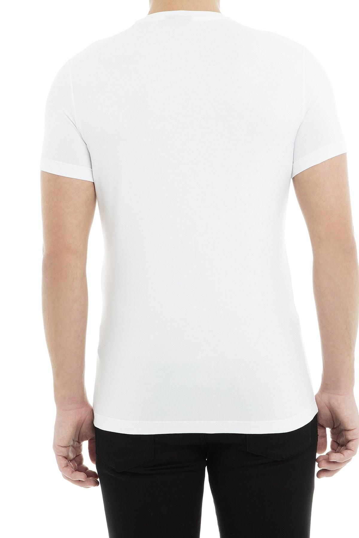 Emporio Armani Erkek T Shirt 3G1TH2 1J11Z 0100 BEYAZ