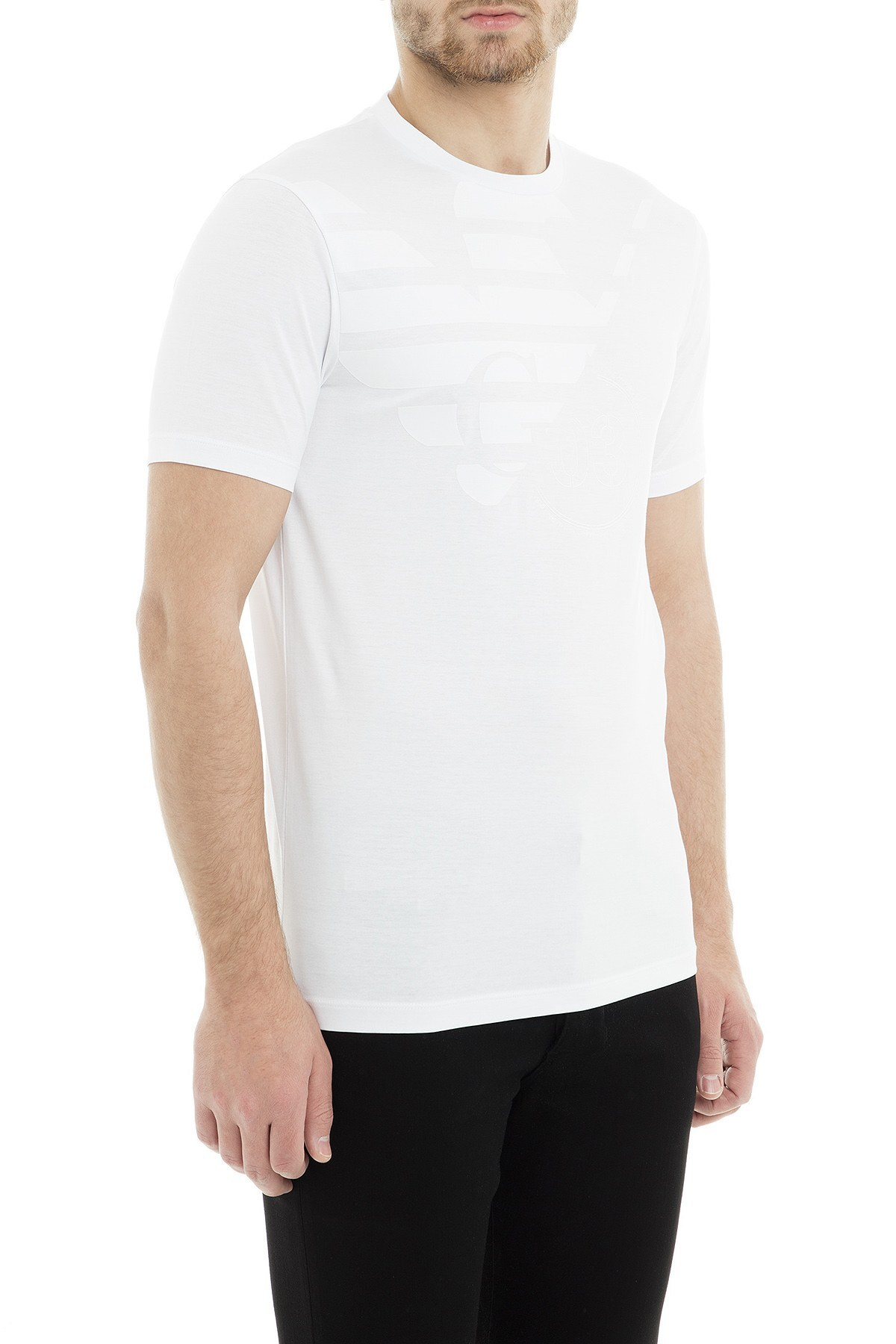 Emporio Armani Erkek T Shirt 3G1TL1 1JTUZ F132 BEYAZ