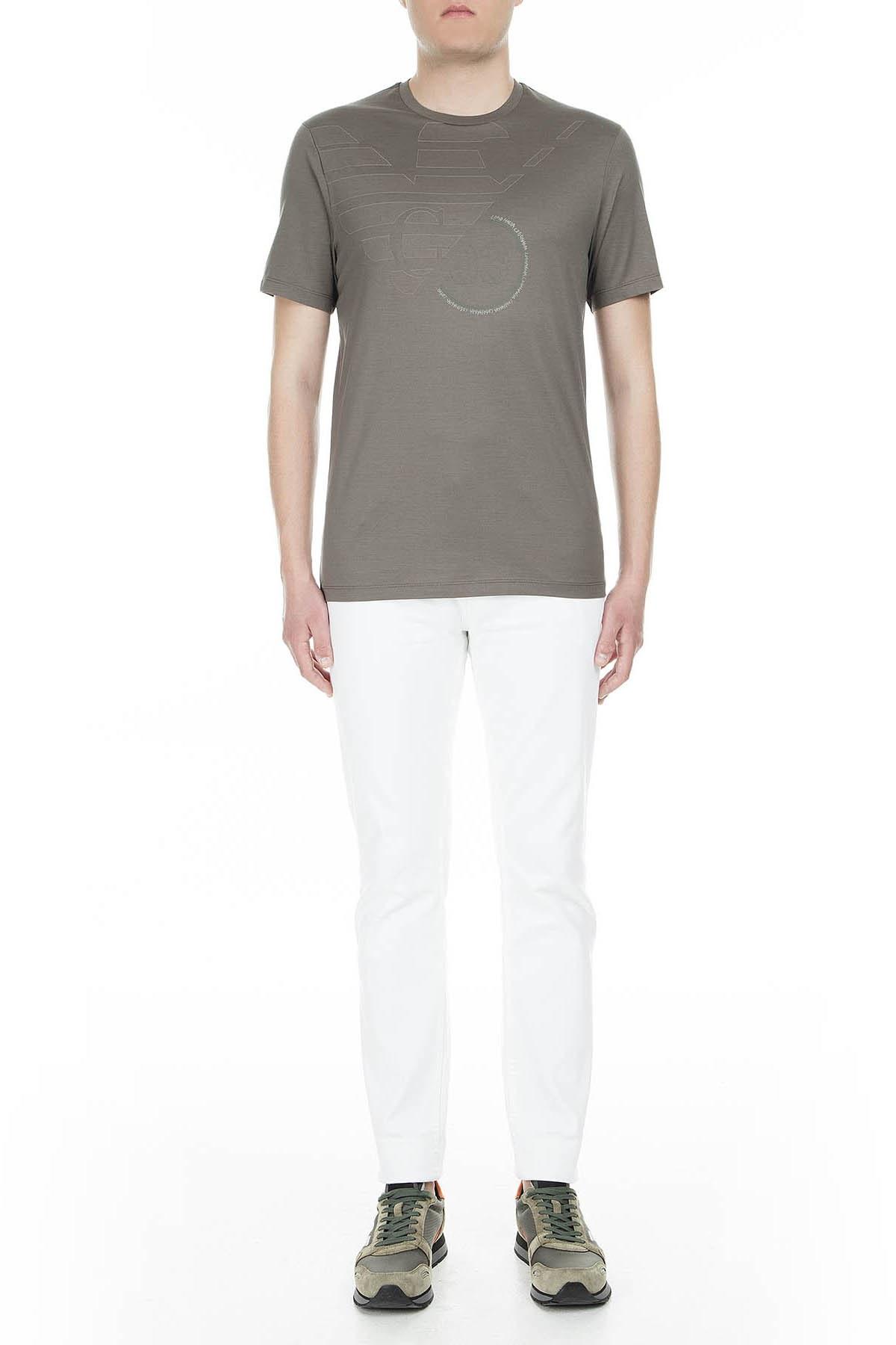 Emporio Armani Erkek T Shirt 3G1TL1 1JTUZ F645 GRİ
