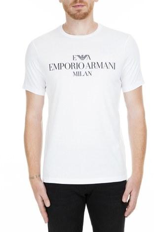 Emporio Armani - Emporio Armani Erkek T Shirt 3G1TM4 1JHRZ 0100 BEYAZ