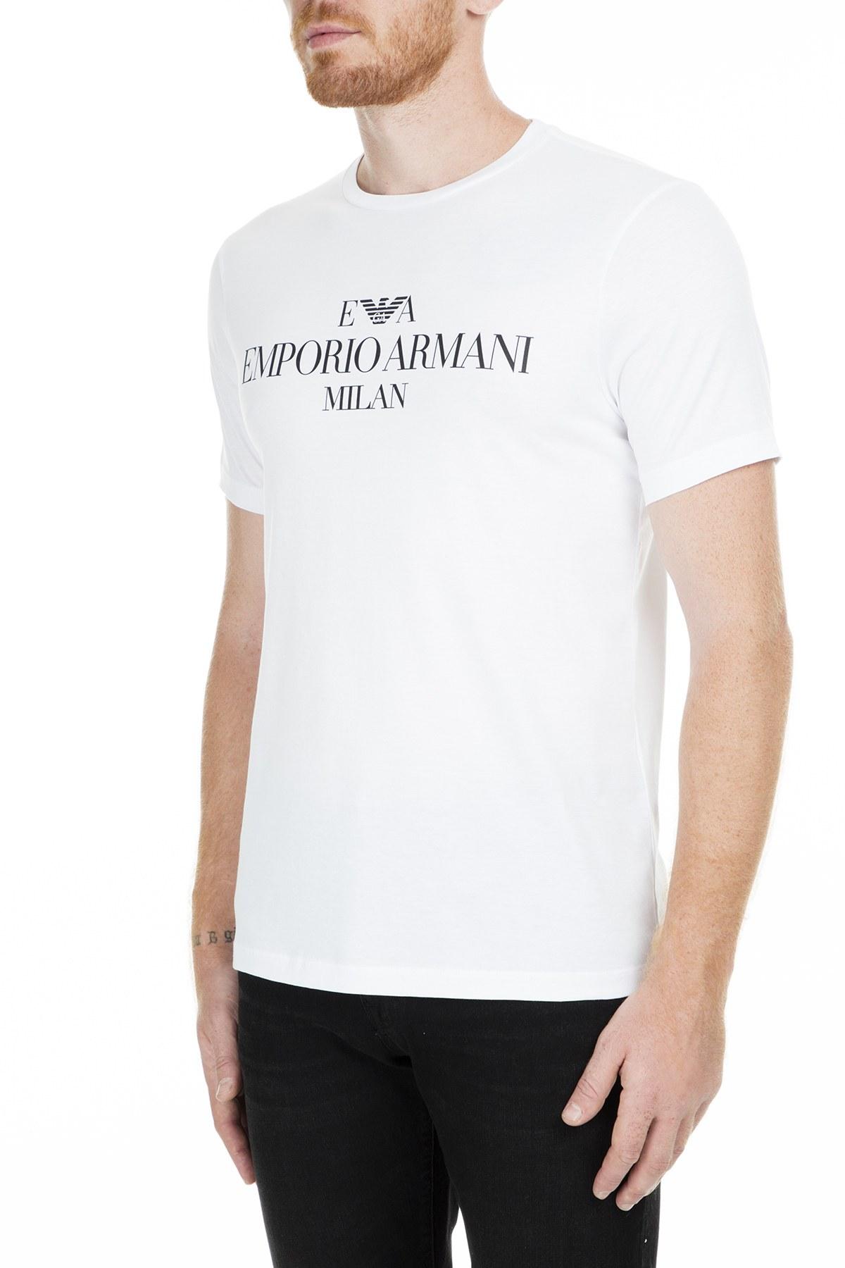 Emporio Armani Erkek T Shirt 3G1TM4 1JHRZ 0100 BEYAZ