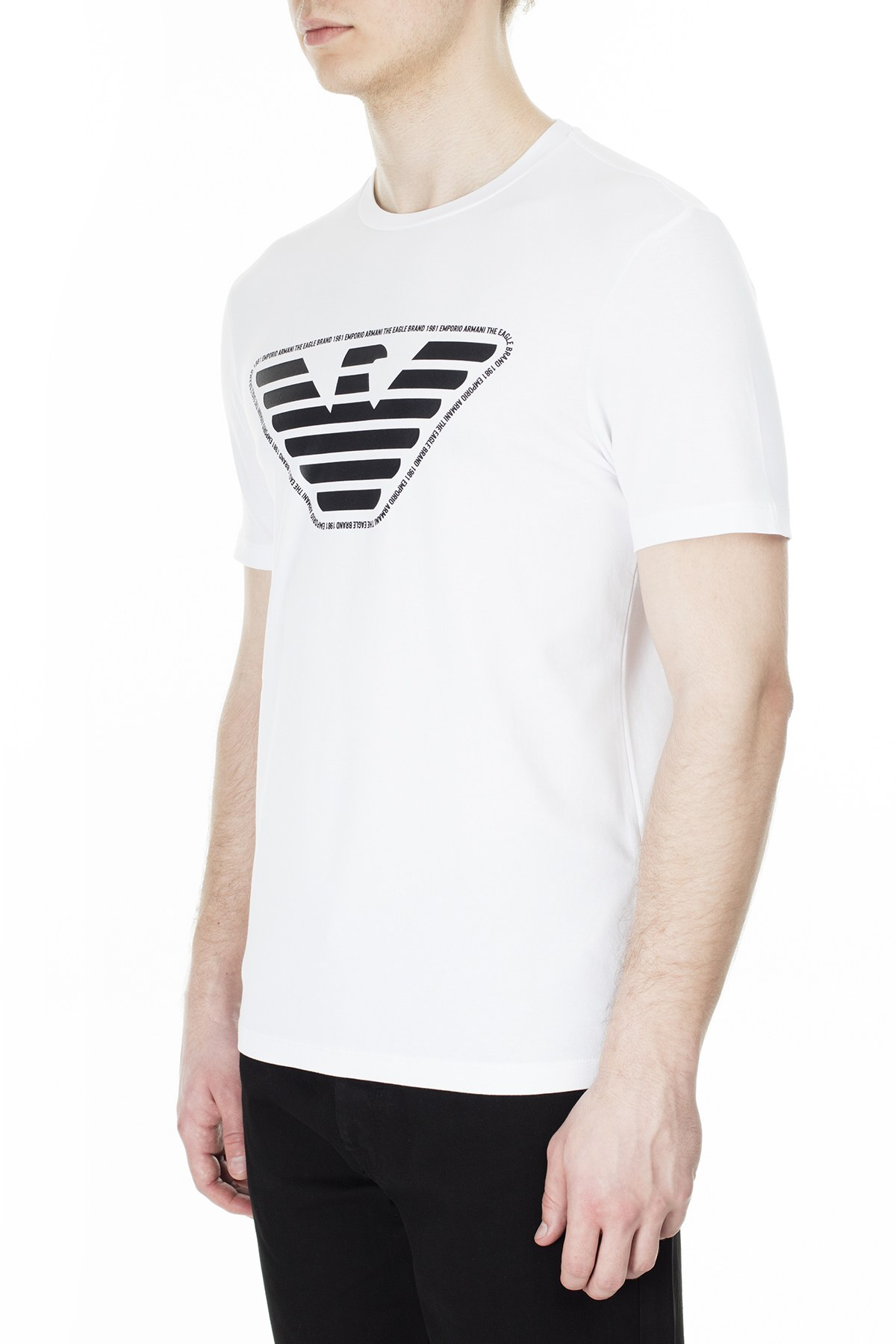 Emporio Armani Erkek T Shirt 3H1T92 1J0AZ 0100 BEYAZ