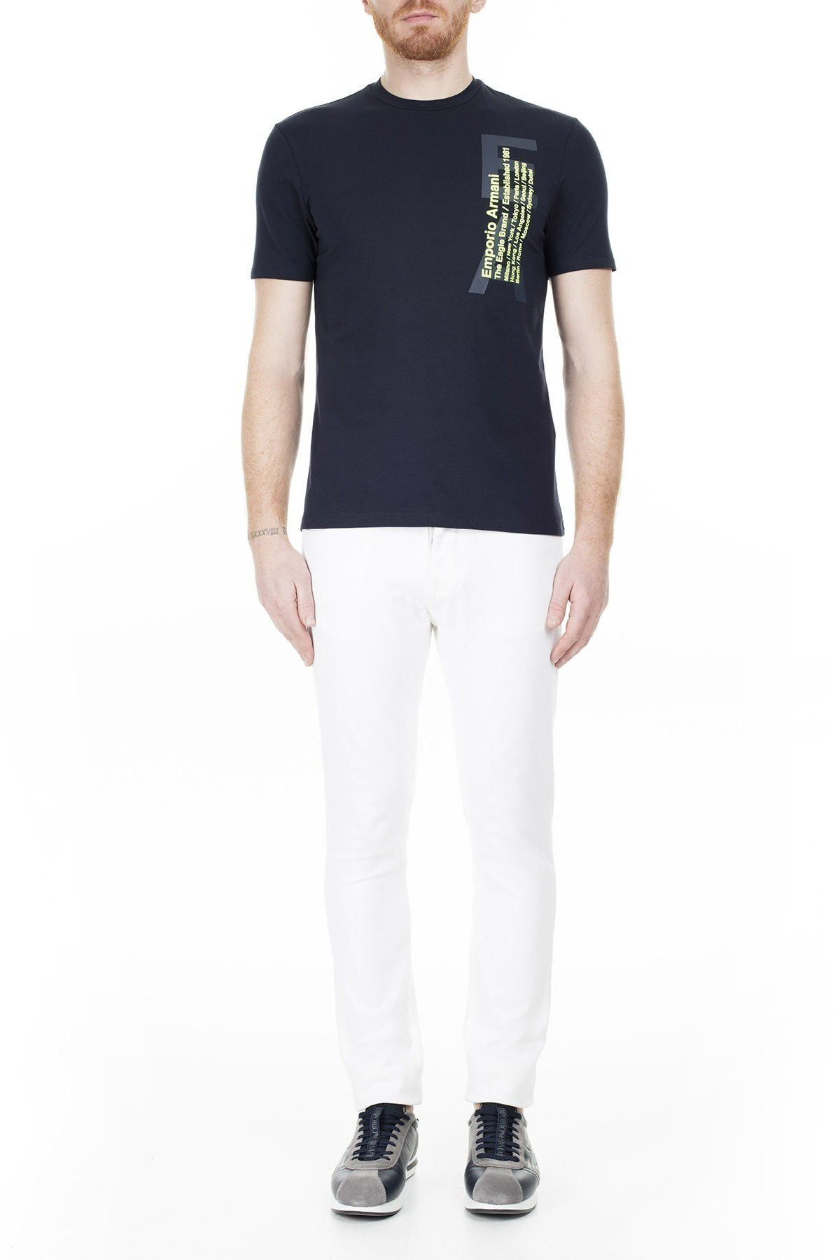 Emporio Armani Erkek T Shirt 3H1T92 1J0AZ 0922 LACİVERT