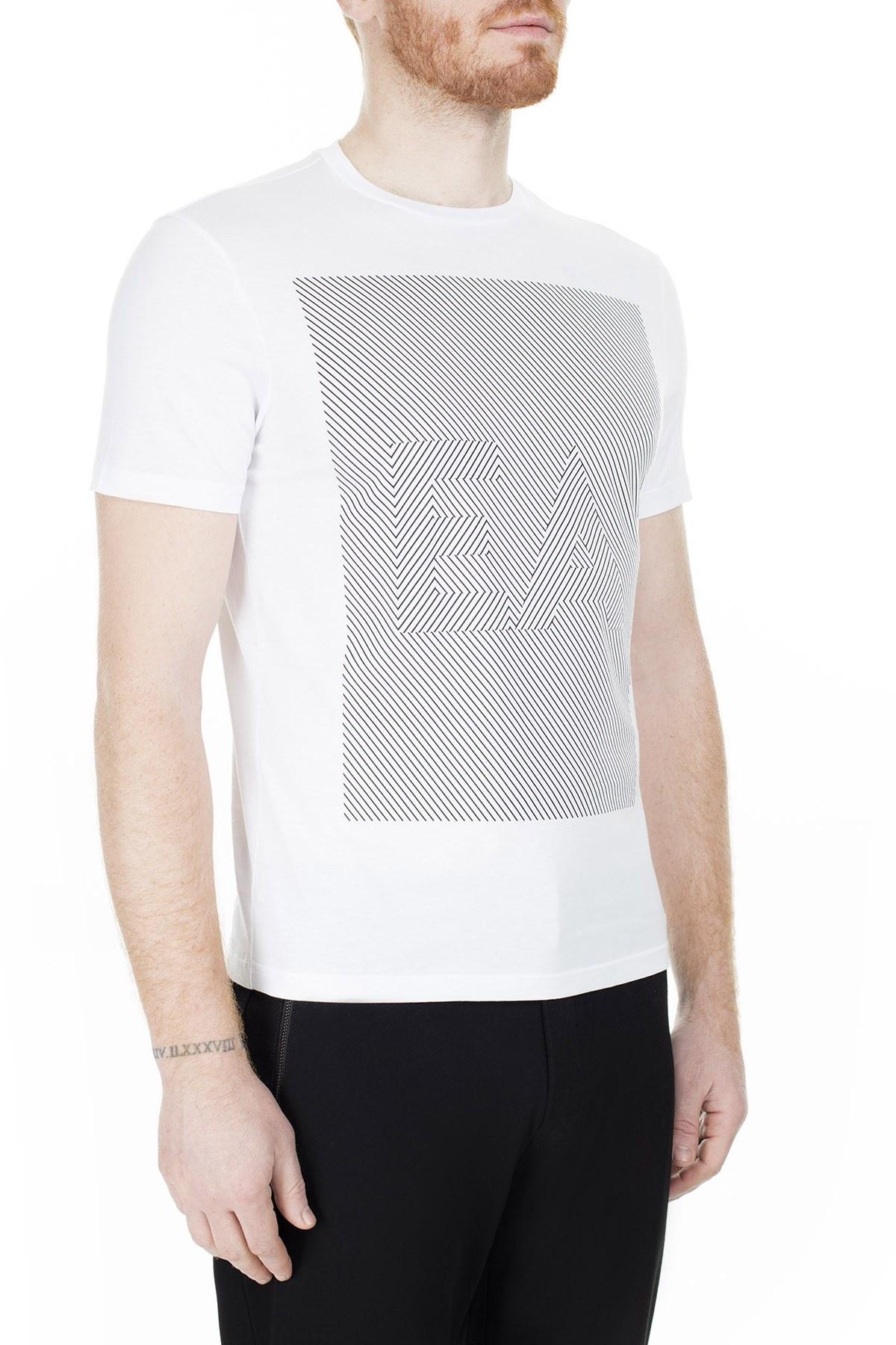 Emporio Armani Erkek T Shirt 3H1TB2 1JNQZ 0100 BEYAZ