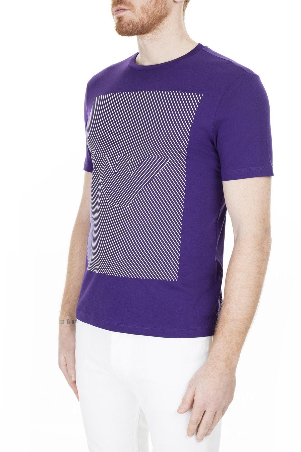 Emporio Armani Erkek T Shirt 3H1TB2 1JNQZ 0832 MOR