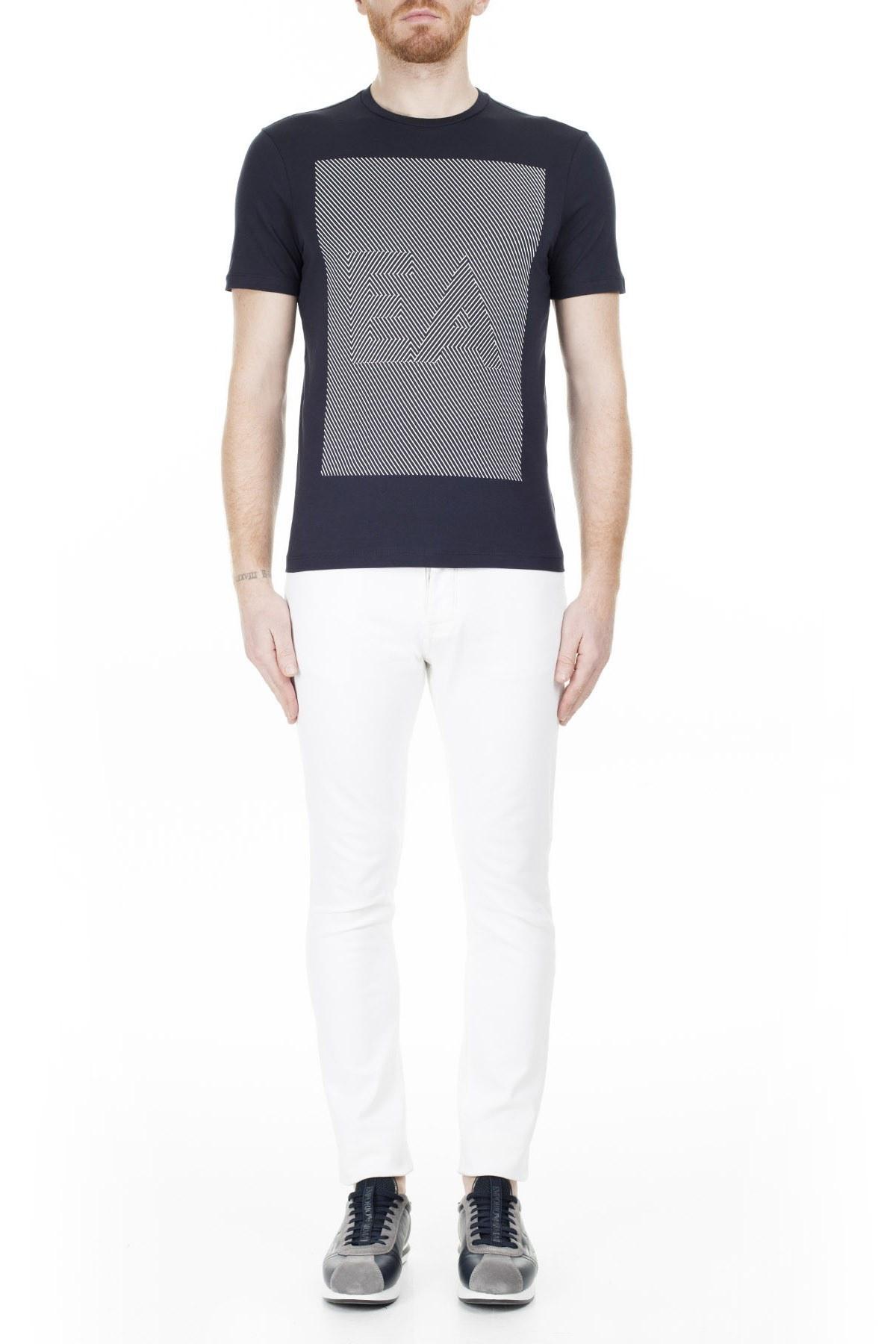 Emporio Armani Erkek T Shirt 3H1TB2 1JNQZ 0922 LACİVERT