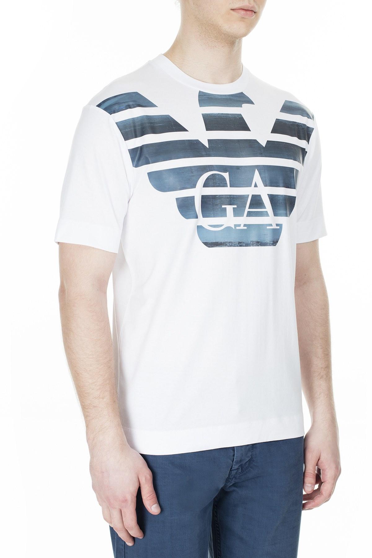 Emporio Armani Erkek T Shirt 3H1TM4 1JCQZ F125 BEYAZ