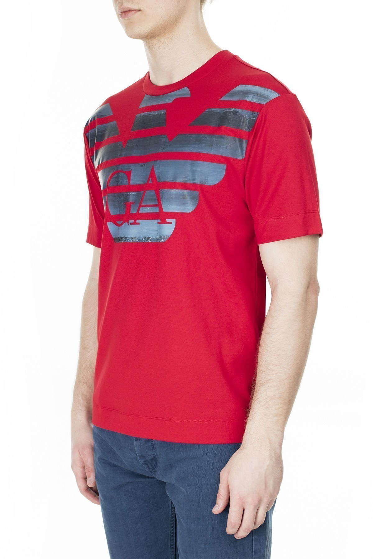 Emporio Armani Erkek T Shirt 3H1TM4 1JCQZ F326 KIRMIZI