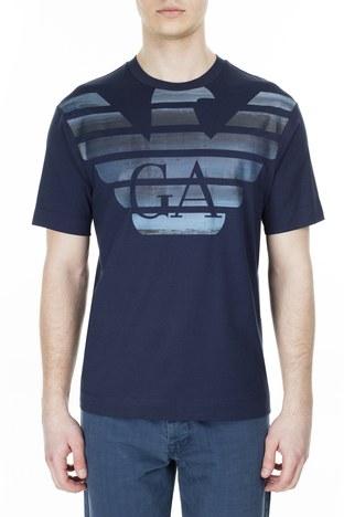Emporio Armani - Emporio Armani Erkek T Shirt 3H1TM4 1JCQZ G919 LACİVERT