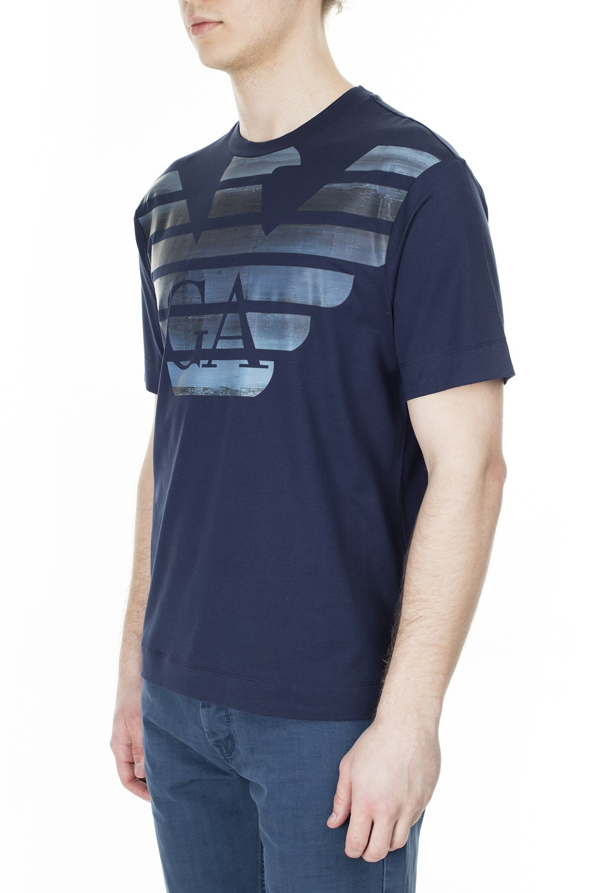 Emporio Armani Erkek T Shirt 3H1TM4 1JCQZ G919 LACİVERT