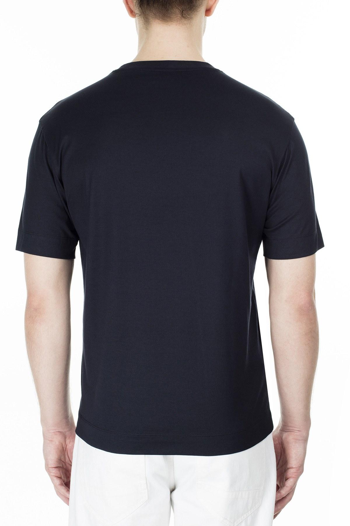 Emporio Armani Erkek T Shirt 3H1TN1 1JCQZ G940 LACİVERT