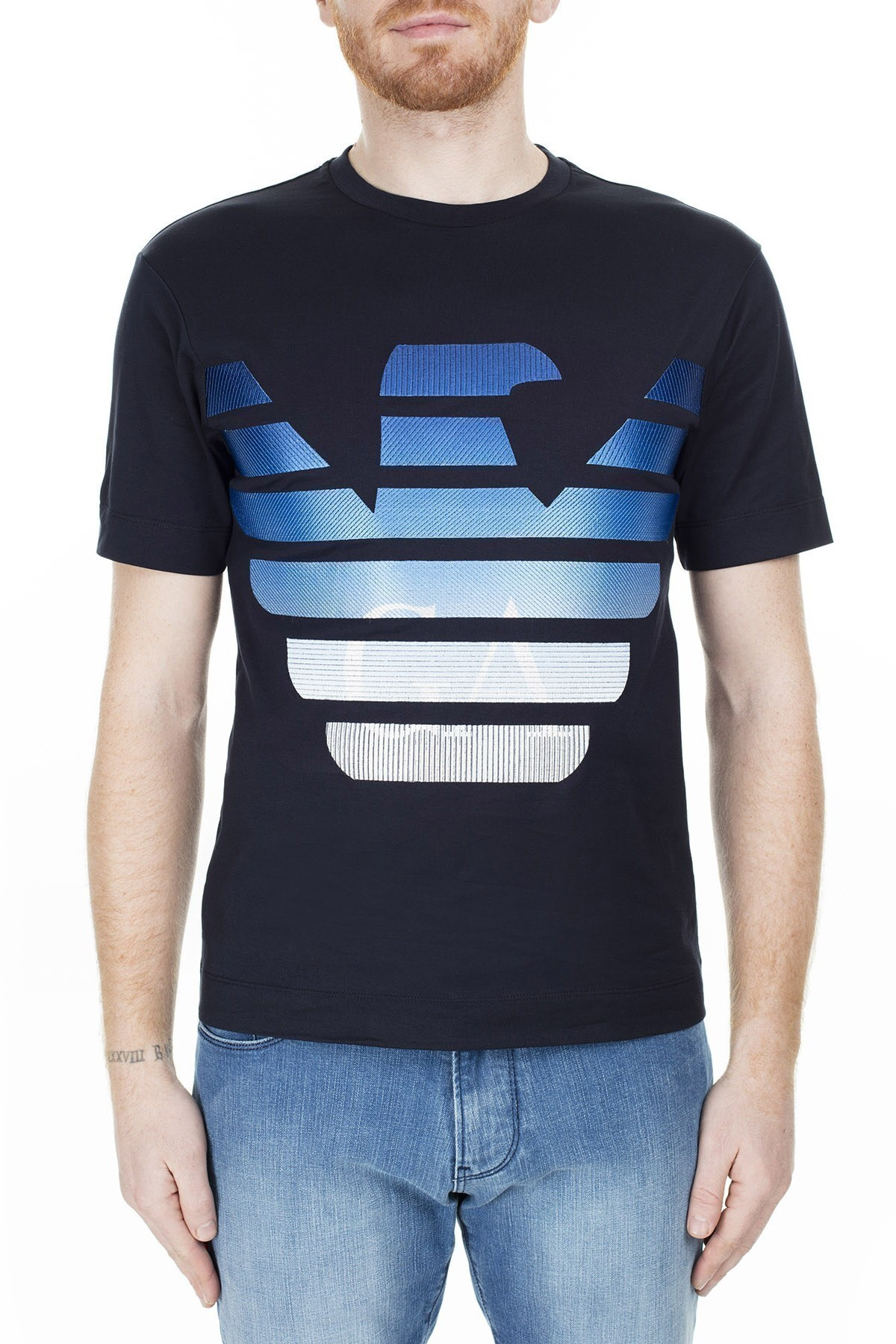 Emporio Armani Erkek T Shirt 3H1TN6 1JCQZ F989 LACİVERT