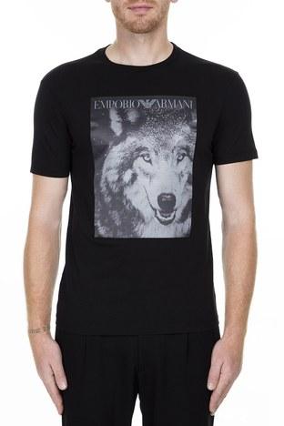 Emporio Armani - Emporio Armani Erkek T Shirt 6G1T77 1J19Z 0999 SİYAH