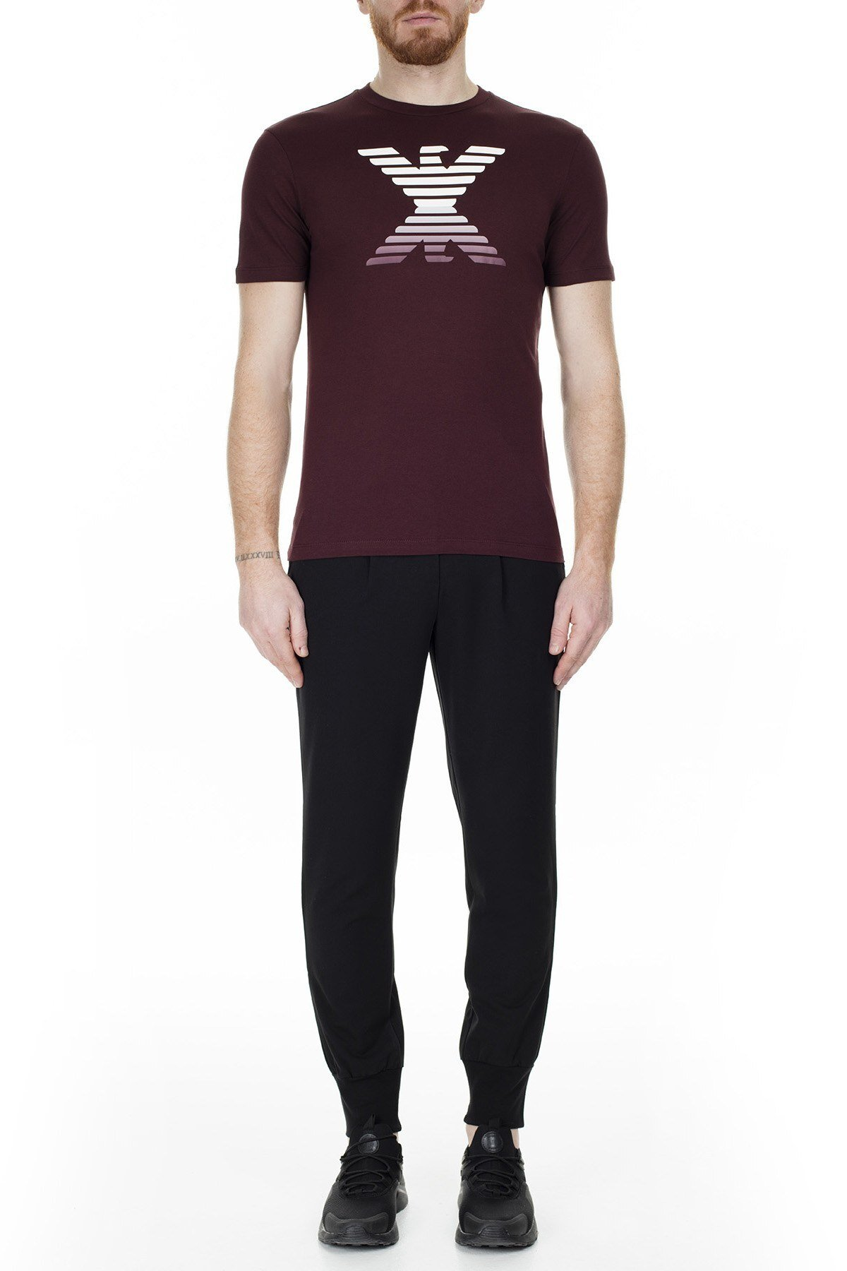 Emporio Armani Erkek T Shirt 6G1TC3 1J00Z 0340 BORDO