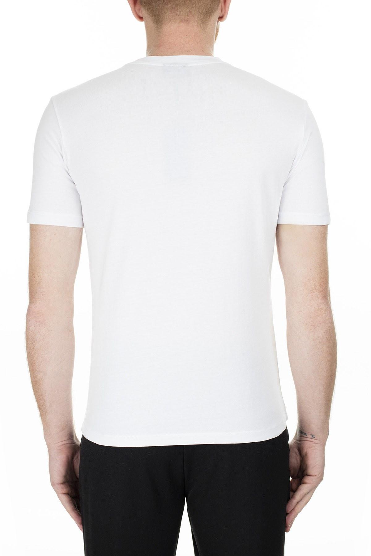 Emporio Armani Erkek T Shirt 6G1TC4 1J00Z 0100 BEYAZ