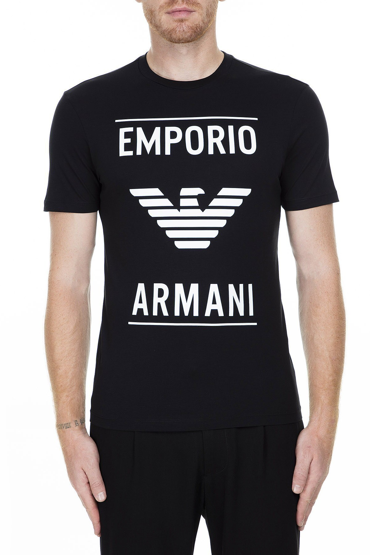 Emporio Armani Erkek T Shirt 6G1TE7 1JNQZ 0999 SİYAH