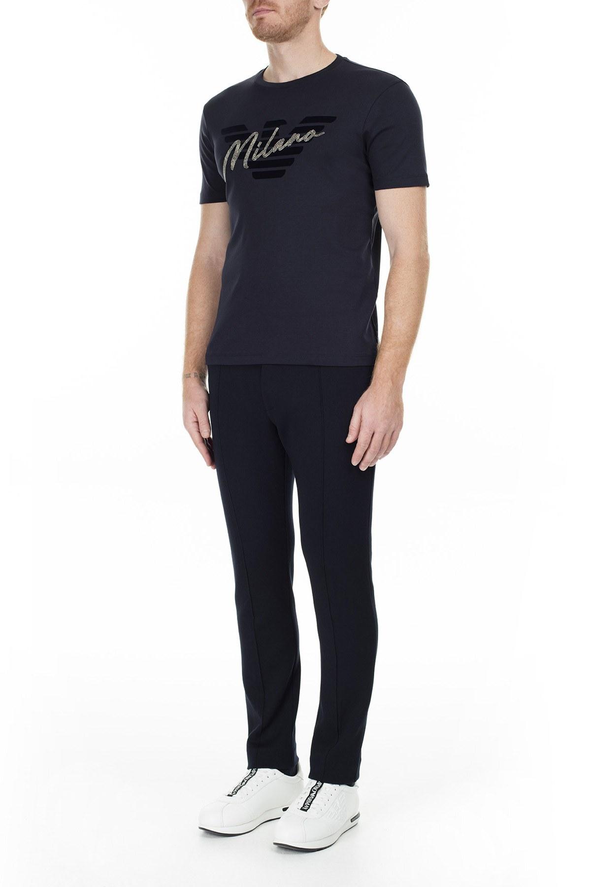 Emporio Armani Erkek T Shirt 6G1TF0 1JPRZ 0922 LACİVERT