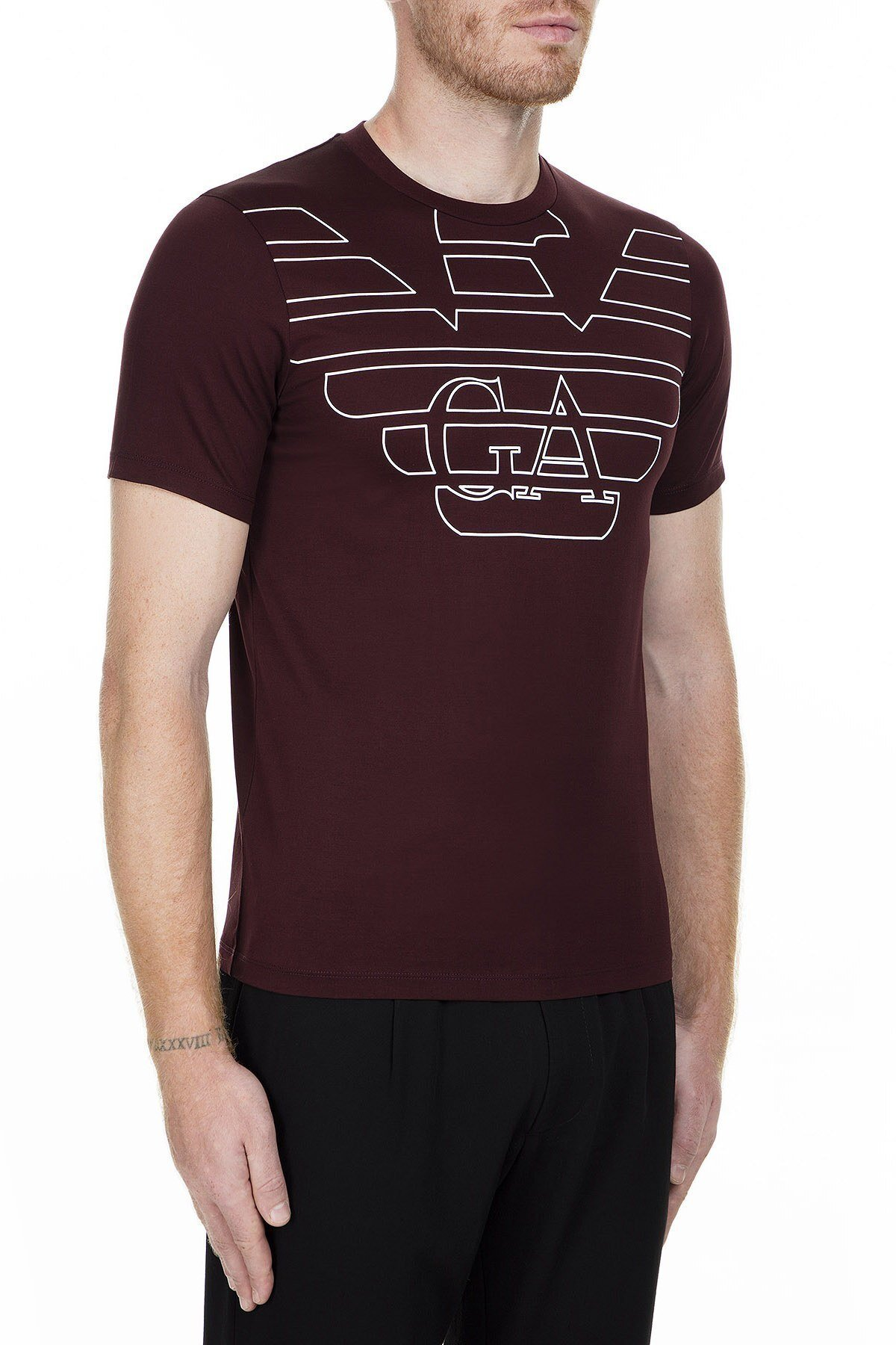 Emporio Armani Erkek T Shirt 6G1TP5 1JTUZ F332 BORDO