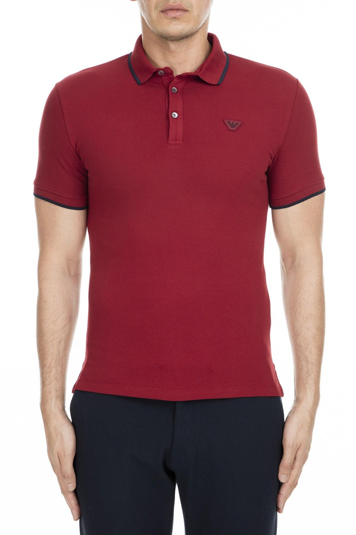 Emporio Armani Erkek T Shirt 6Z1FB6 1J40Z 0343 BORDO